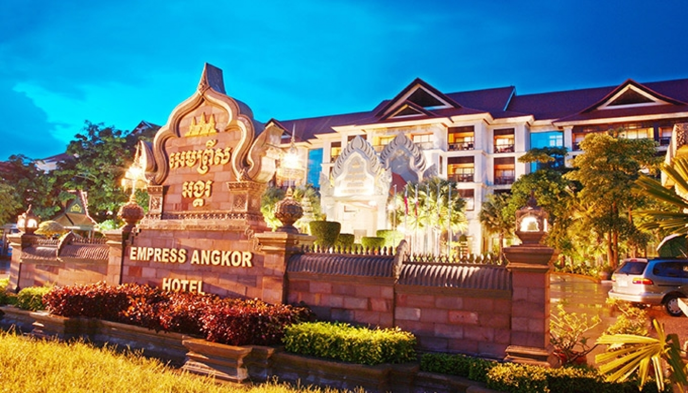 The Facade of Empress Angkor Resort & Spa